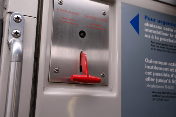 Montreal Metro emergency brake